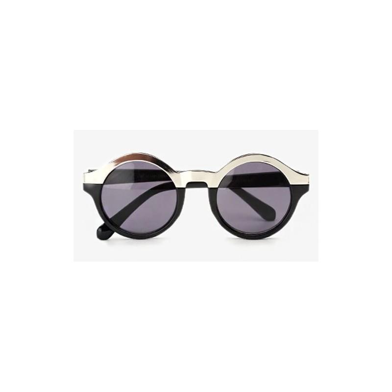 achat lunettes rondes lunettes de soleil rondes noir pour femme. Black Bedroom Furniture Sets. Home Design Ideas