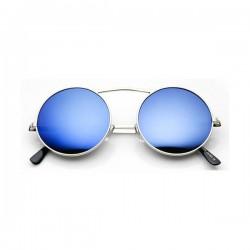 Lunettes De Soleil Ronde En Métal Verres Miroir