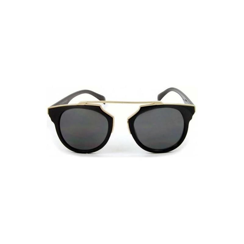 lunettes de soleil aviateur so real noir et dorée