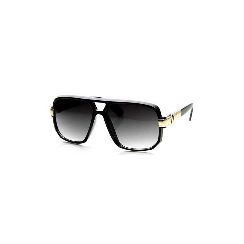 Lunettes aviateur noir dorée