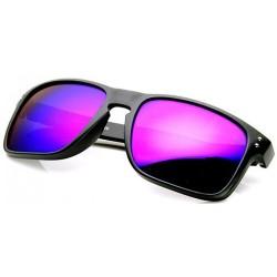 Lunettes soleil effet miroir violet