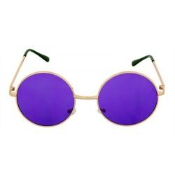 Lunettes de soleil rondes John Lennon verres violet