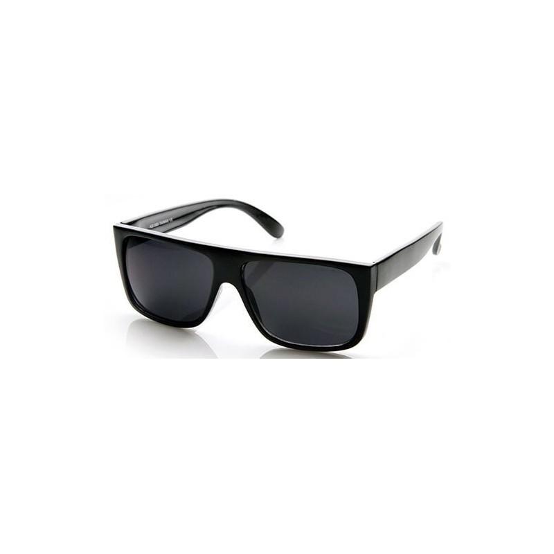 Lunettes de soleil fashion homme noir vue 2