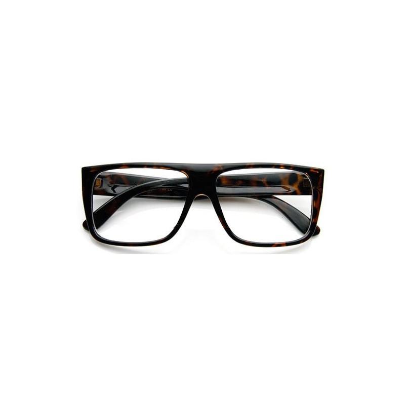 lunettes verres transparents rectangulaire