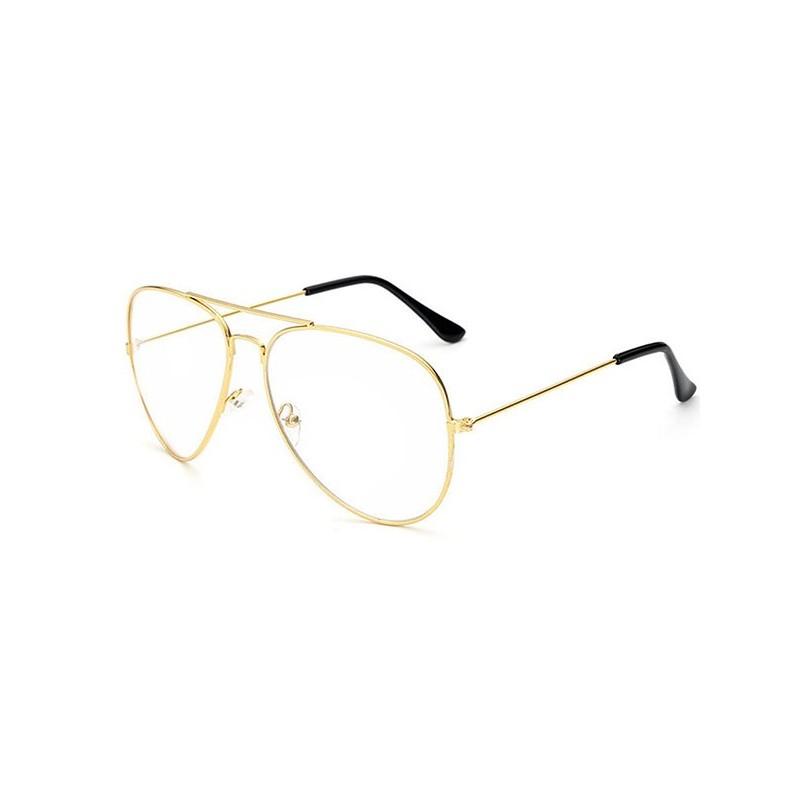 lunettes aviateur m tal verre transparent neutre 11 00