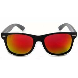 lunettes de soleil miroir rouge