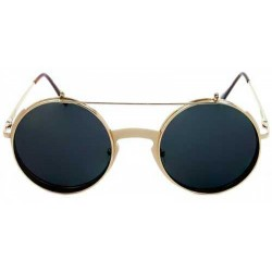 Lunettes steampunk flip up doree