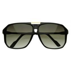 Hipster lunettes de soleil large carré noir
