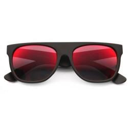 Lunettes de Soleil Noir Flat Top Revo Rouge