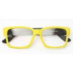 Lunettes rectangulaire cadre jaune