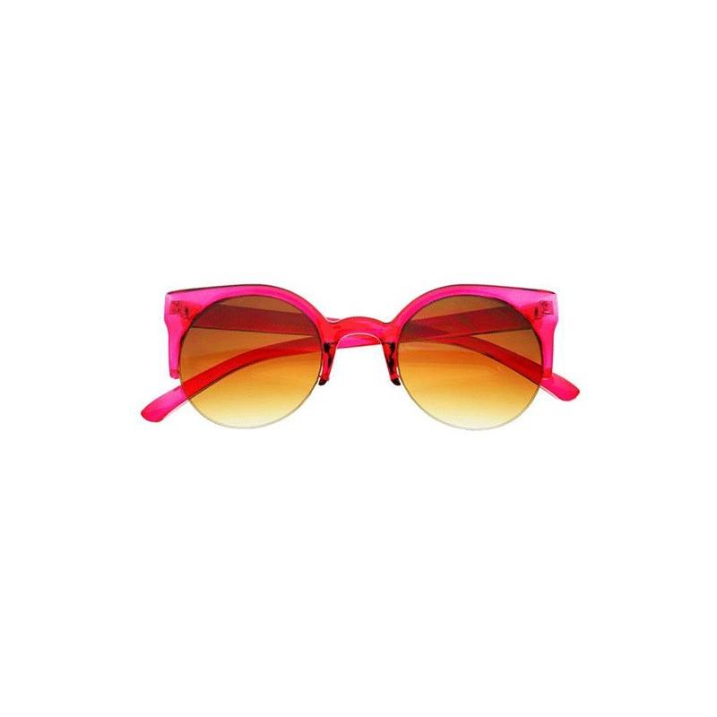 Lunettes oeil de chat rose