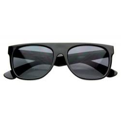 Lunette de Soleil Fashion Noir Flat Top Mate