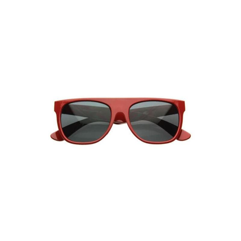lunettes de soleil flat top rouge