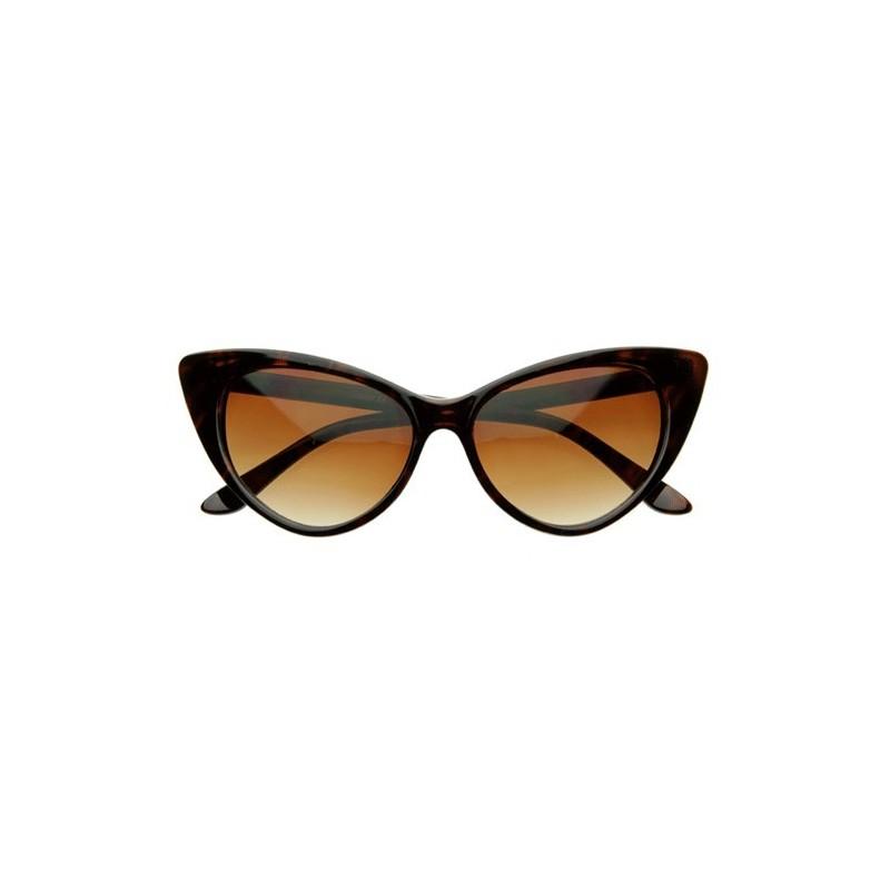 lunettes yeux de chat écaille