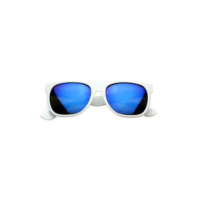 lunettes de soleil flat top flash bleu