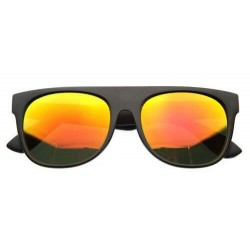 Super Lunette de Soleil Fashion Noir Flat Top Revo Orange