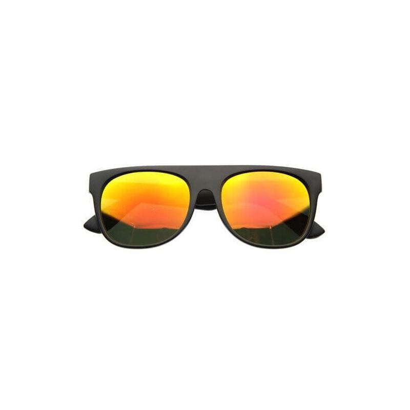 lunettes de soleil flat top flash noir et orange