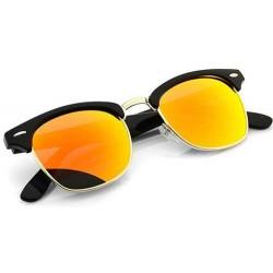 Lunettes de soleil verres miroir orange